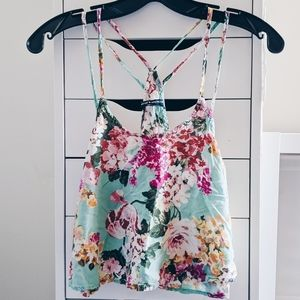 BRANDY MELVILLE | FLORAL TANK TOP